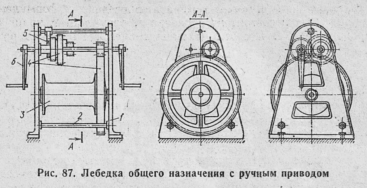 Лебёдки, Рис.87