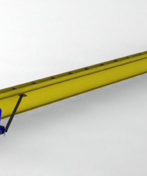 Кран мостовой электрический однобалочный подвесной г/п 2т L-3м Lпол.-4.2м