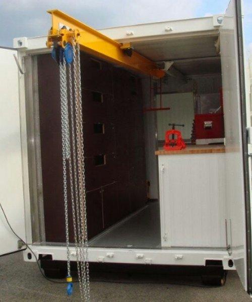 Кран в контейнер 20 футов