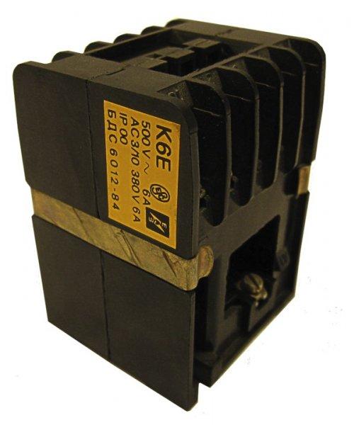 Контактор марки К 6Е (6 А/24,42В)