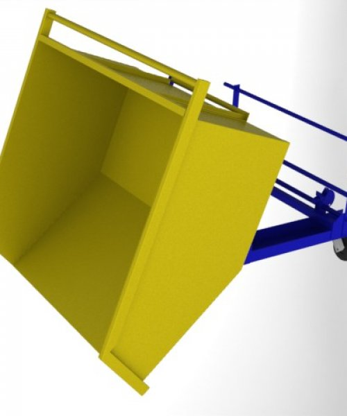 Мусорный контейнер под вилочный погрузчик 1 м^3
