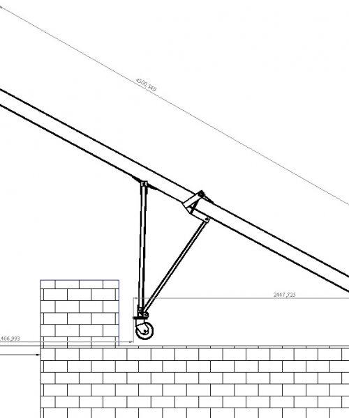 Переносной Кран для стройки (установка на крышу)ПКСК