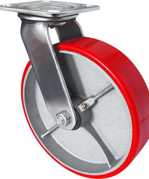 Колесо большегрузное полиуретановое (поворотное без тормоза) BKPP