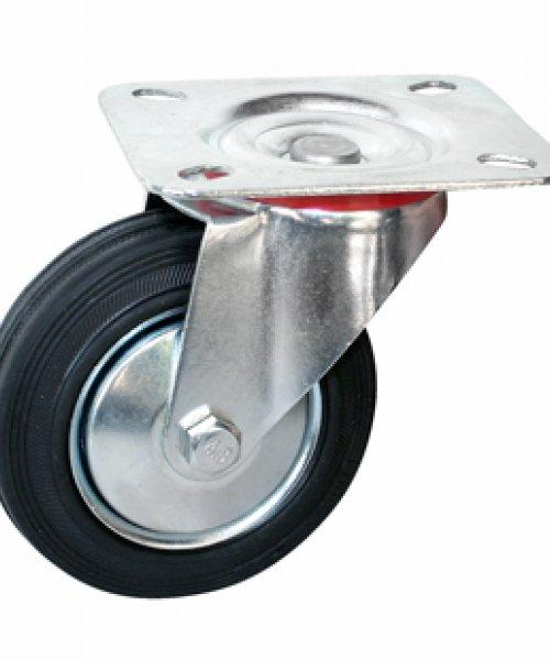 Промышленное колесо с черной резиной PRK4RP