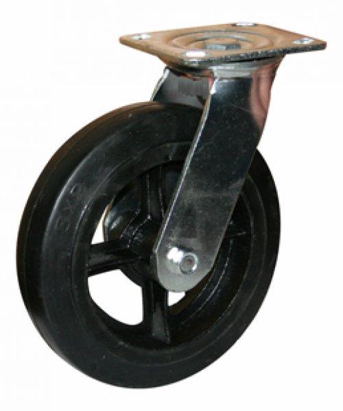 Большегрузное чугунное колесо с твердой резиной BCHKTRP100